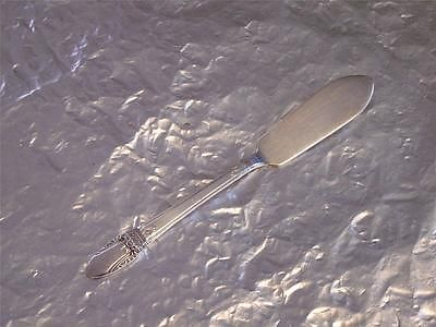 """#1847_Rogers #FirstLove (1937) flat handle master #butter_knife VGU (339I)  Silverplate flat handle master butter knife in the First Love pattern by 1847 Rogers Bros., circa 1937  This knife measures 6¾"""" (17.1 cm) long with a blade that is 7/8"""" (2.2 cm) wide  This knife is in very good condition for its age with average signs of usage  The back of the knife is stamped   1847 ROGERS BROS   I S   First Love (in a script font)     This item has no cracks or signs of repair  07182013RITT339I"""