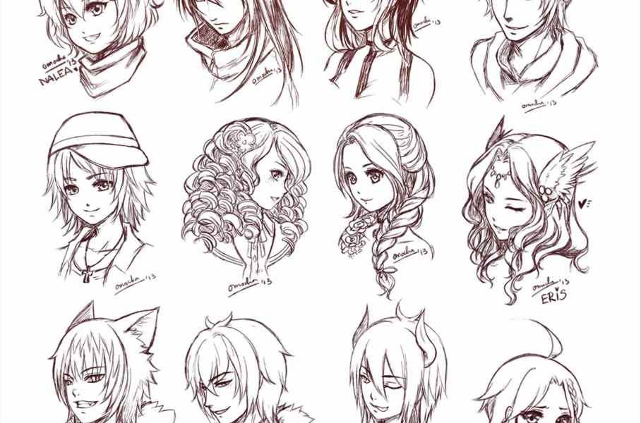 Image Result For Girls Anime Hairstyles Easy With Images Manga