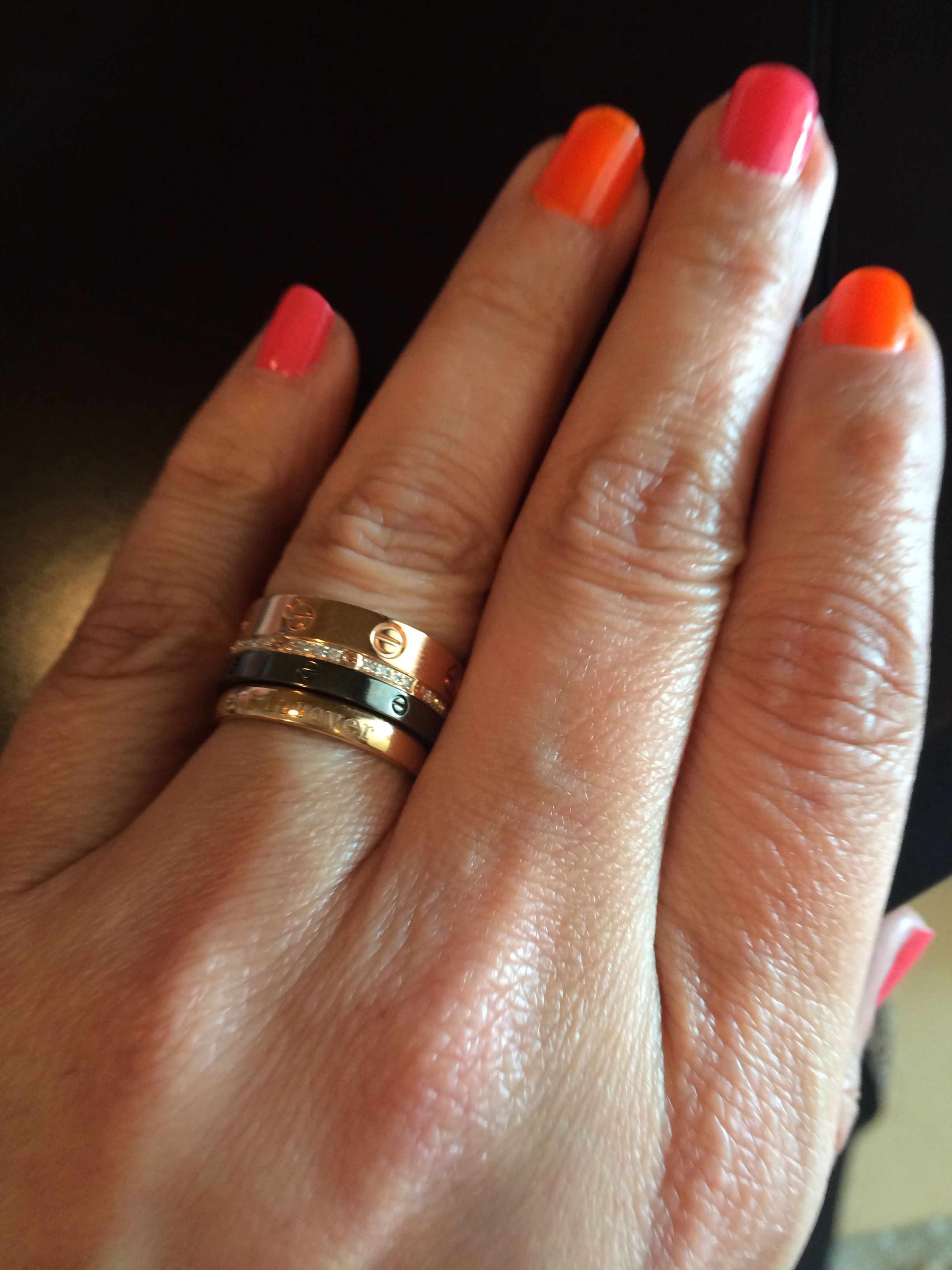 Cartier stacking ring...lovin' it! Cartier love ring
