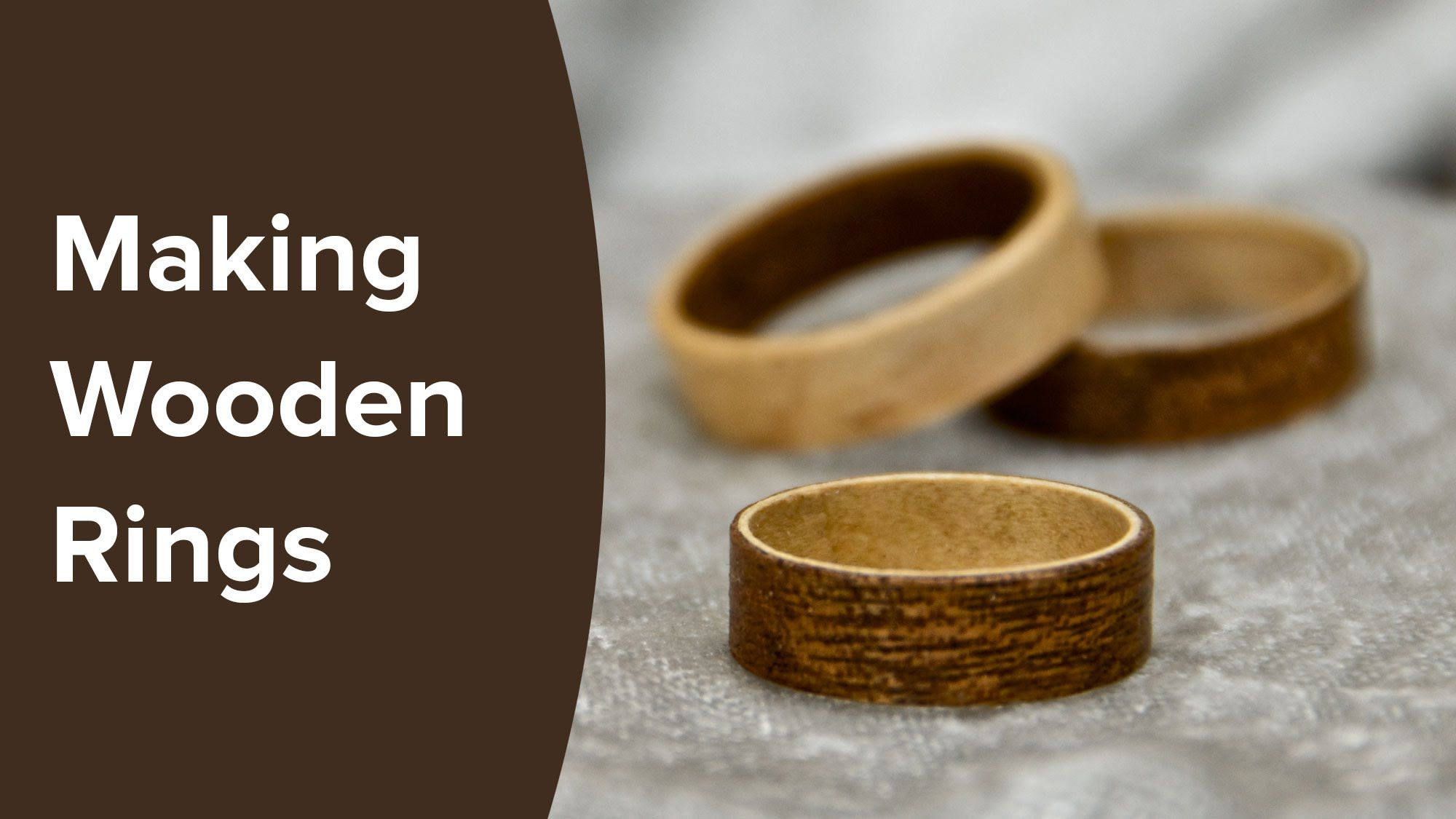 I Show You Step By Step On How To Make These Beautiful Wooden Rings From Sheets Of Veneer Using Bent Lamination Otherwi Wooden Rings Wood Rings Wood Rings Diy