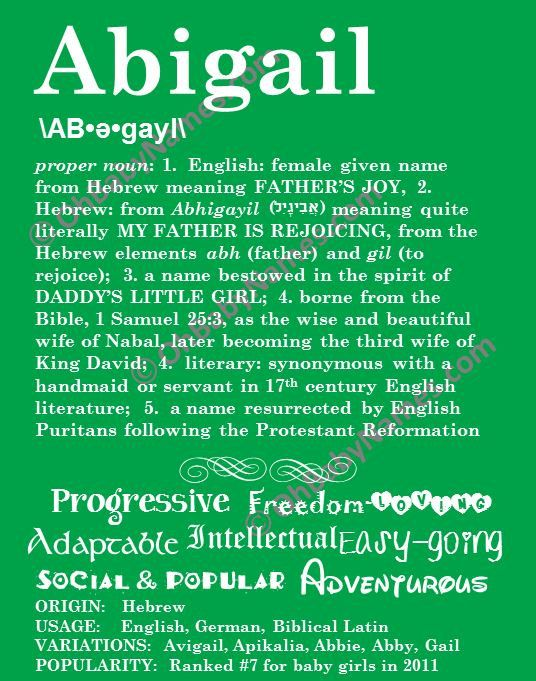 You The Of Biblical Name Abigail Meaning Stride