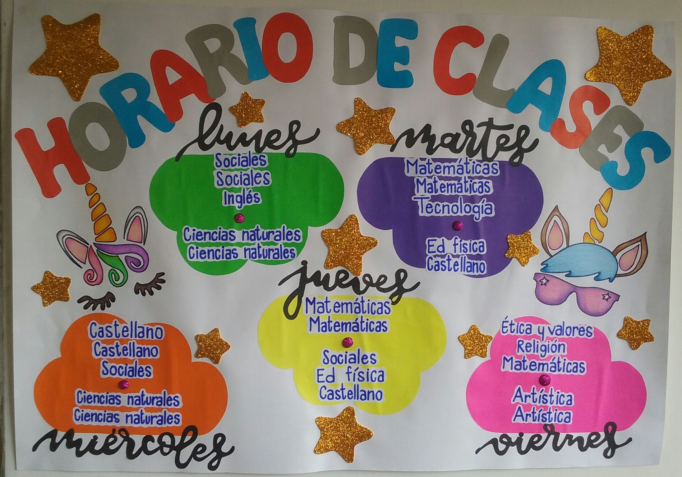 Horario De Clased Horario De Clases Carteleras Escolares Decorar Salones De Clases
