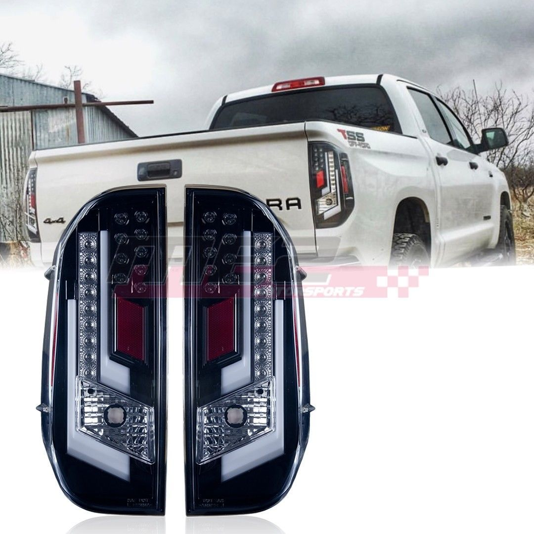 Winjet Oe Factory Fit For 2014 2019 Toyota Tundra Led Brake Tail Lights Clear Toyota Tundra Tundra Trd Tundra
