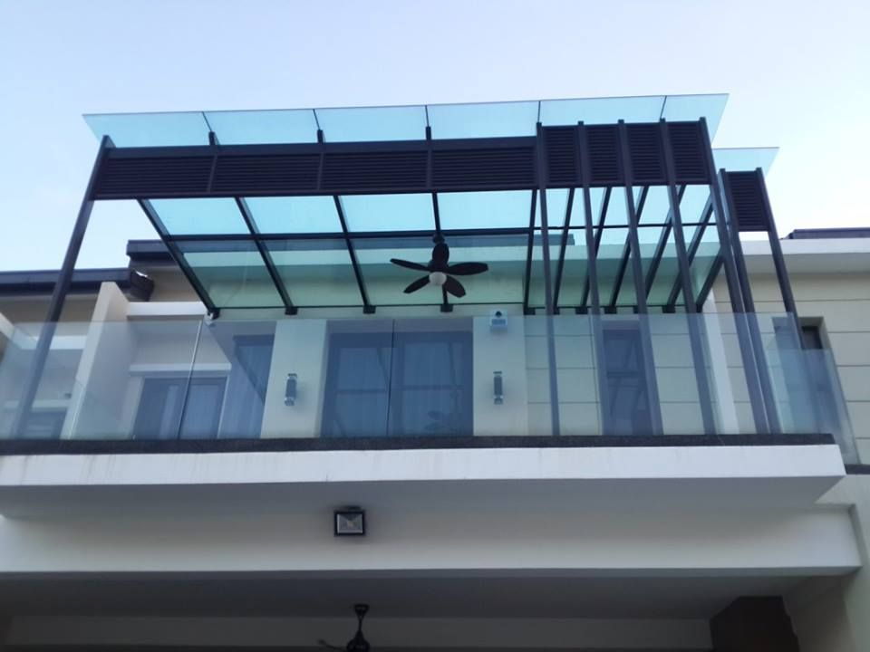 Reliance Home Skylight With Louvre Cool Roof Glass Roof Balcony Design
