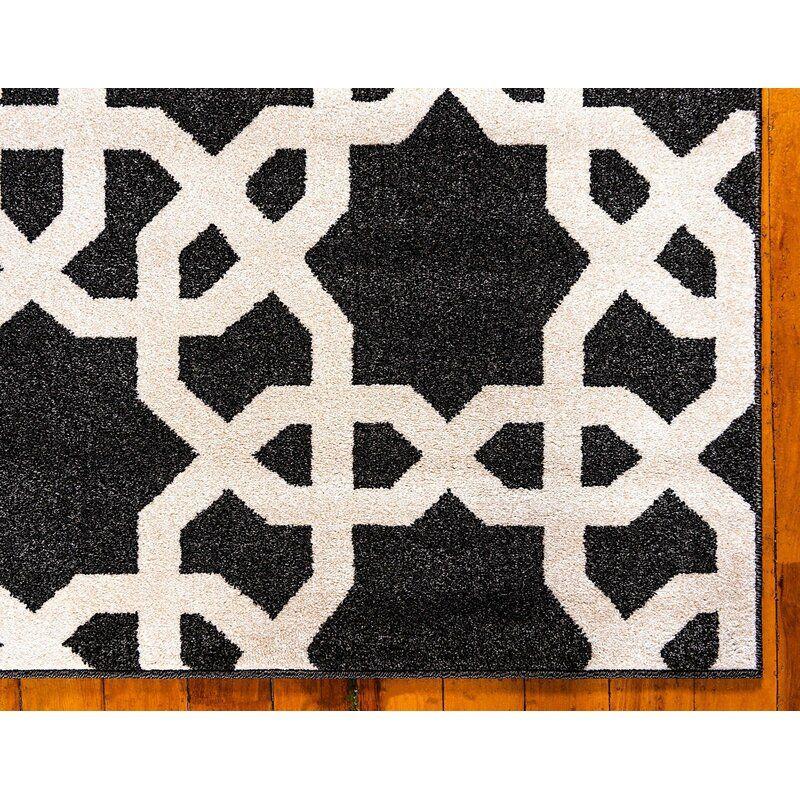 Theodora Geometric Black Beige Area Rug Rugs Area Rugs Black Area Rugs