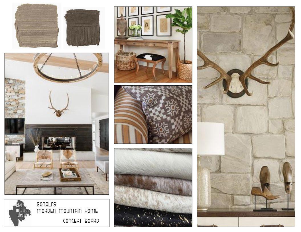 felicia klein | laurel & wolf modern mountain home concept board