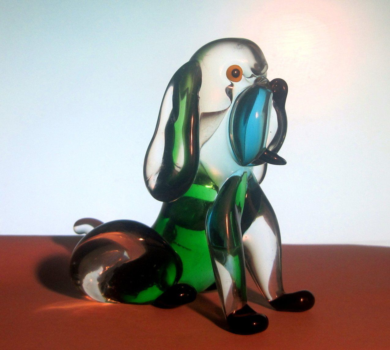Arte Murano Icet Elephant Murano Art Glass Dog Arte Murano Icet Green Blue Oos Eye
