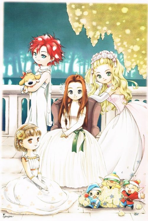 Harvest Moon A Wonderful Life Marriage possibilities for the player. I think they are all beautiful. Nami with the red hair is my favorite.