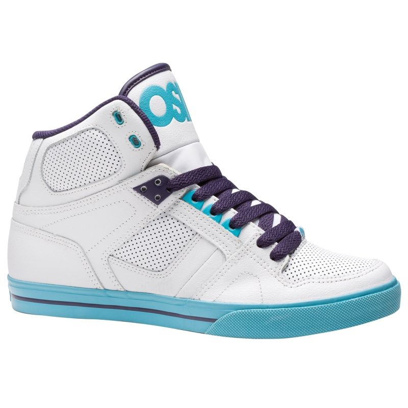 Osiris NYC 83 VLC Men's Shoes Wht/Teal/Pur