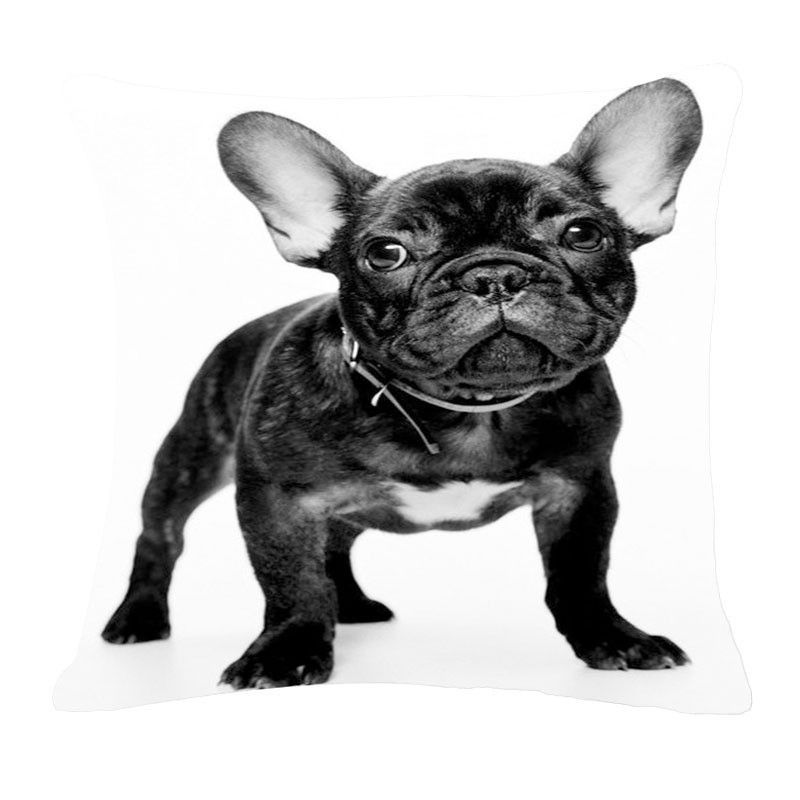 Choice Of Printed French Bulldog Throw Pillow Without Core Tierbabys Bulldogge Ausgestopftes Tier