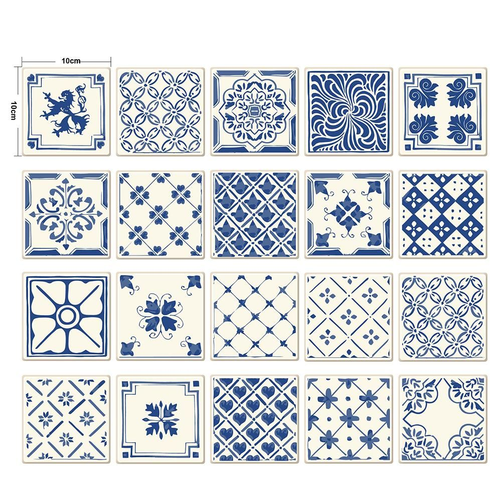 Photo of 20Pcs/Set Multi-style Anti-oil Waterproof Tile Wall Decor Stickers Kitchen Decal – as the picture ap
