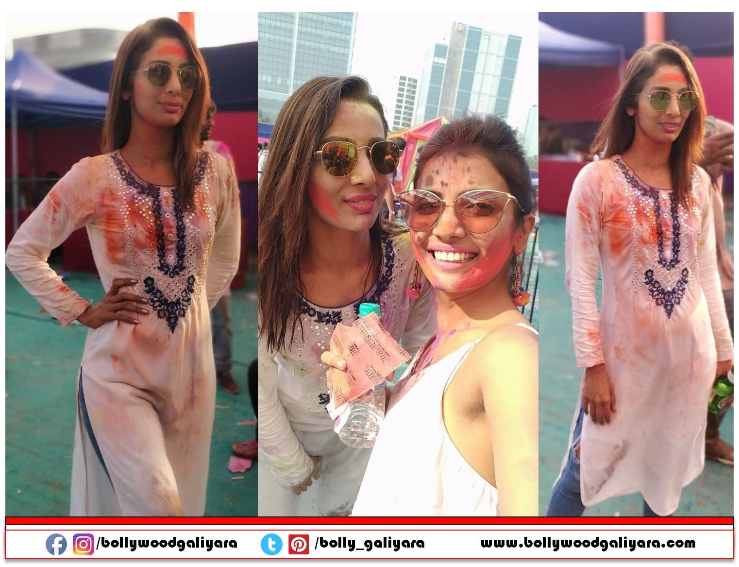 """Actress Heena Panchal celebrate the festival of colours"""