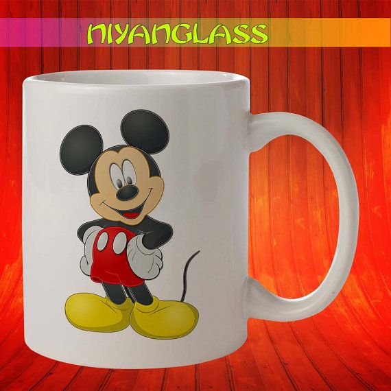 Mickey Mouse Disney mug, Mic... from Niyanglass on Wanelo