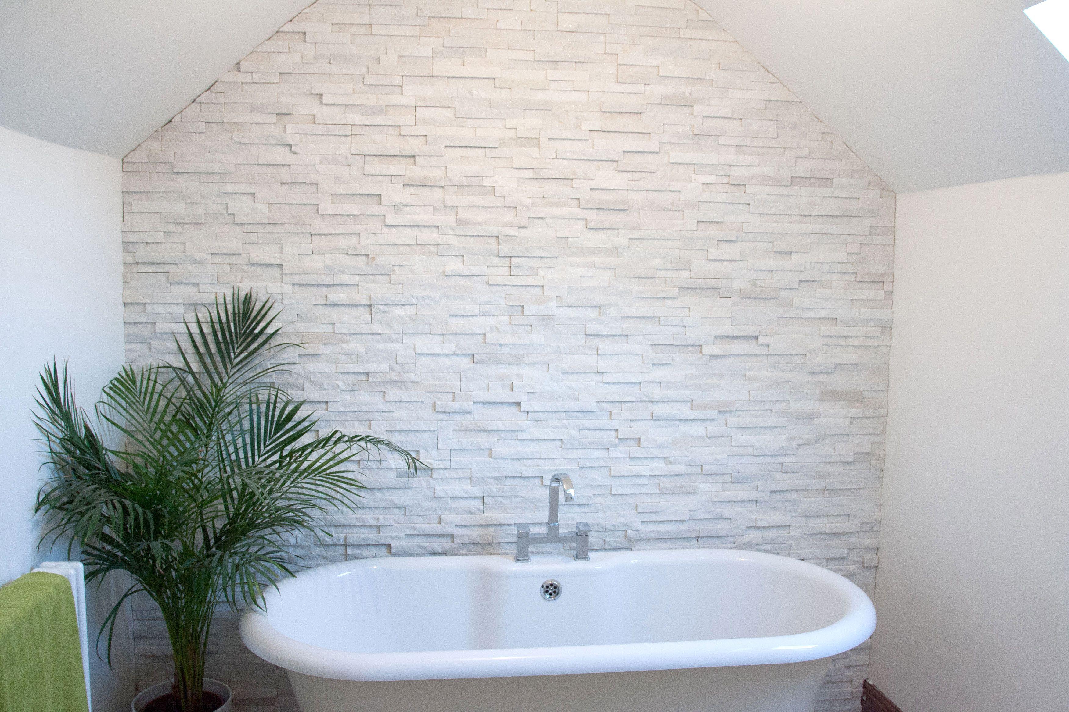White Quartz Maxi Split Face Tiles 600x150x8-20mm http://www.mrs ...