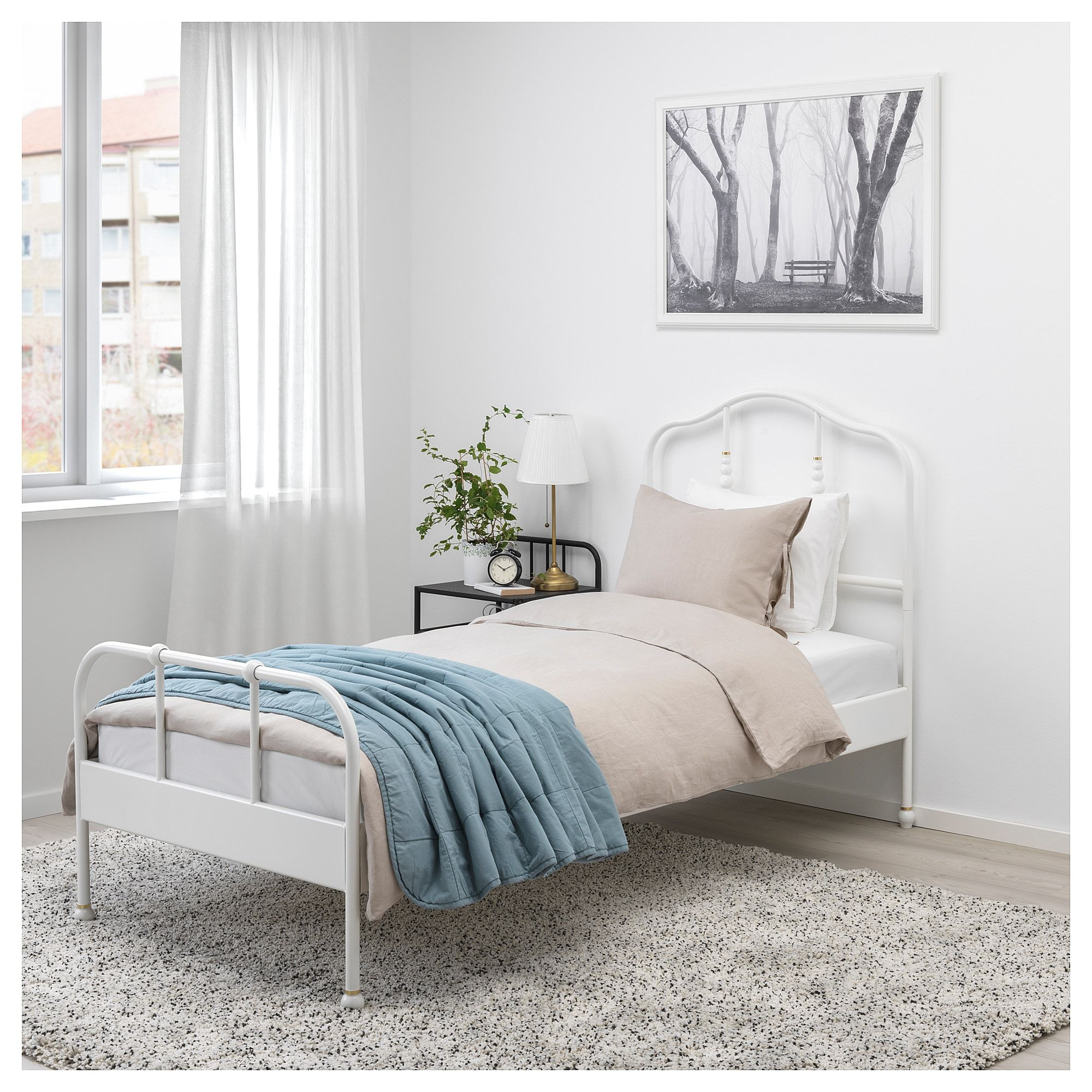 Sagstua Bed Frame White Luroy Twin Bed Frame Comfort