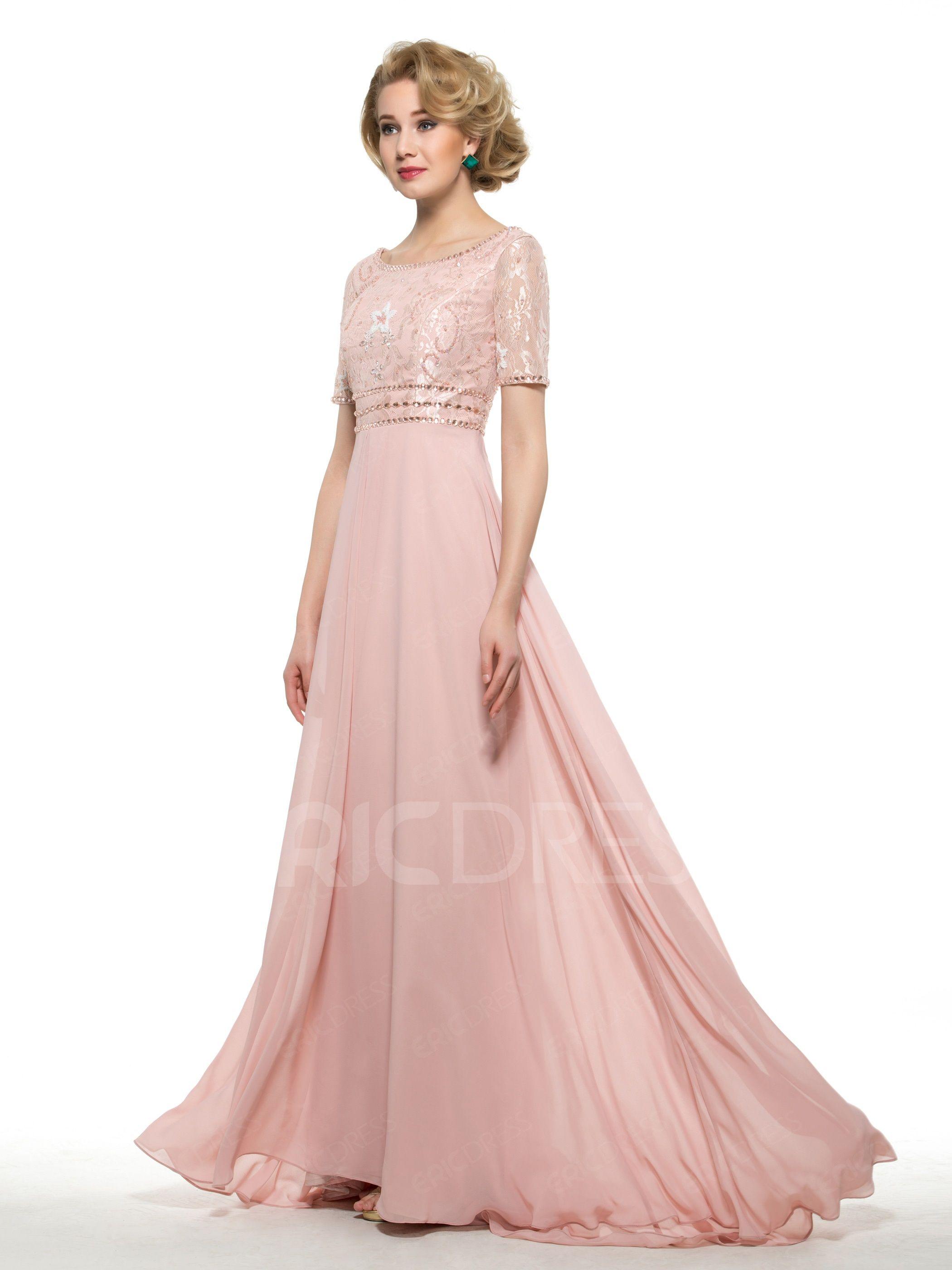 Elegant A Line Lace Long Mother Of The Bride Dress   Pinterest