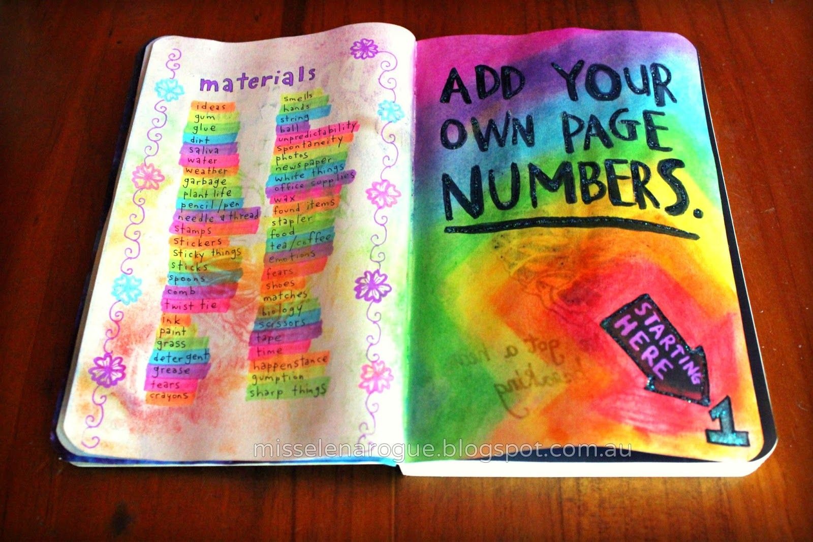 Add Your Own Page Numbers Wreck This Journal Ideas Wreck This Journal Bullet Journal Minimalist Smash Journal