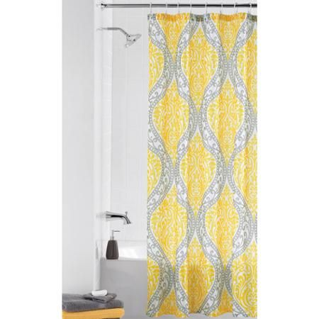 Home Yellow Shower Curtains Fabric Shower Curtains Gray Shower Curtains