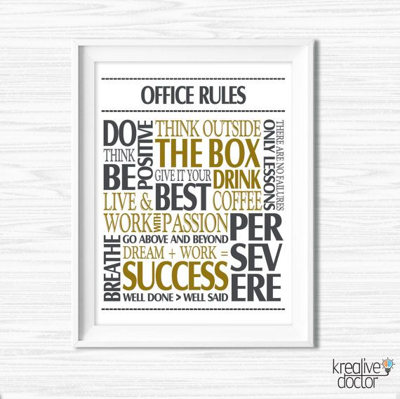 Wall Decor For Office office wall art motivational wall decor inspirational quote