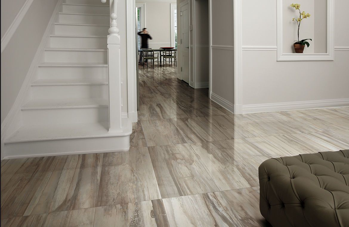 Ceramic floor tile: stone look - PETRIFIED TREE : GREY PANTHER - Emilceramica S.p.A.
