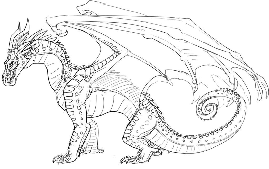 Starwind Sketch Wings Of Fire Dragons Dragon Coloring Page Wings Of Fire