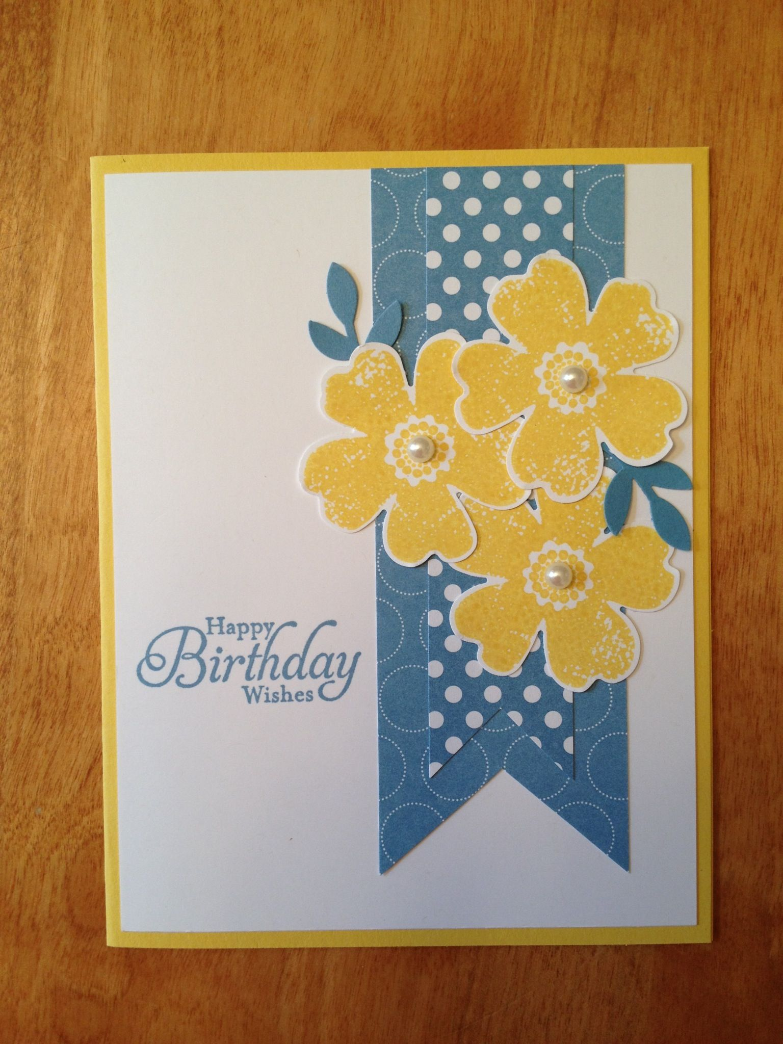 Stampin' Up! - Flower Shop. I like this version made with the pansy punch. Its easier to make at a workshop or class.