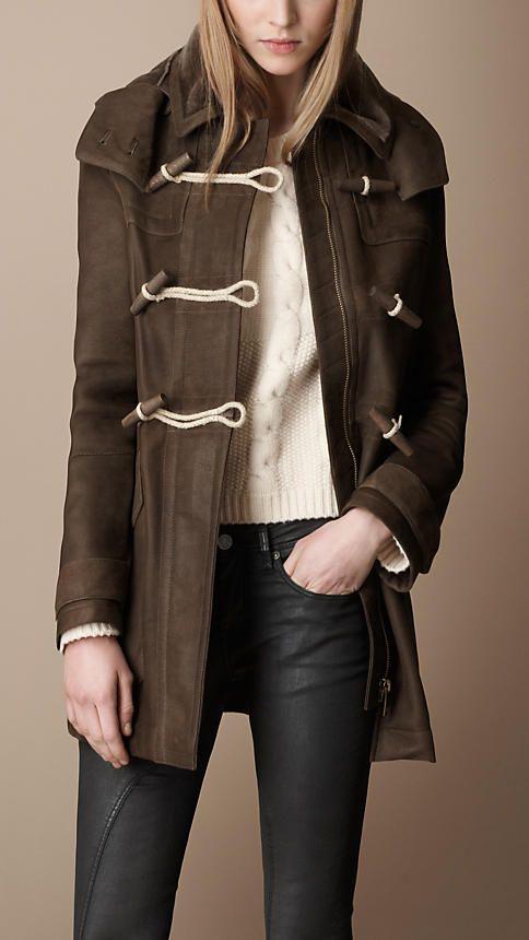 Burberry - Hooded Shearling Duffle Coat