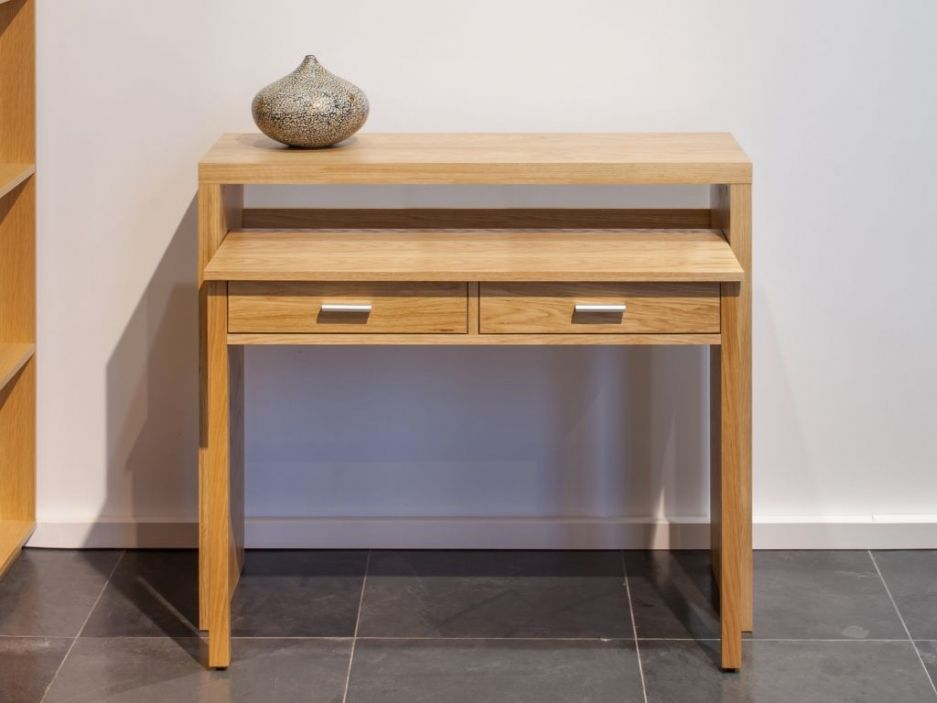 console bureau sisko 2 tiroirs bouleau coloris naturel things objects pinterest. Black Bedroom Furniture Sets. Home Design Ideas