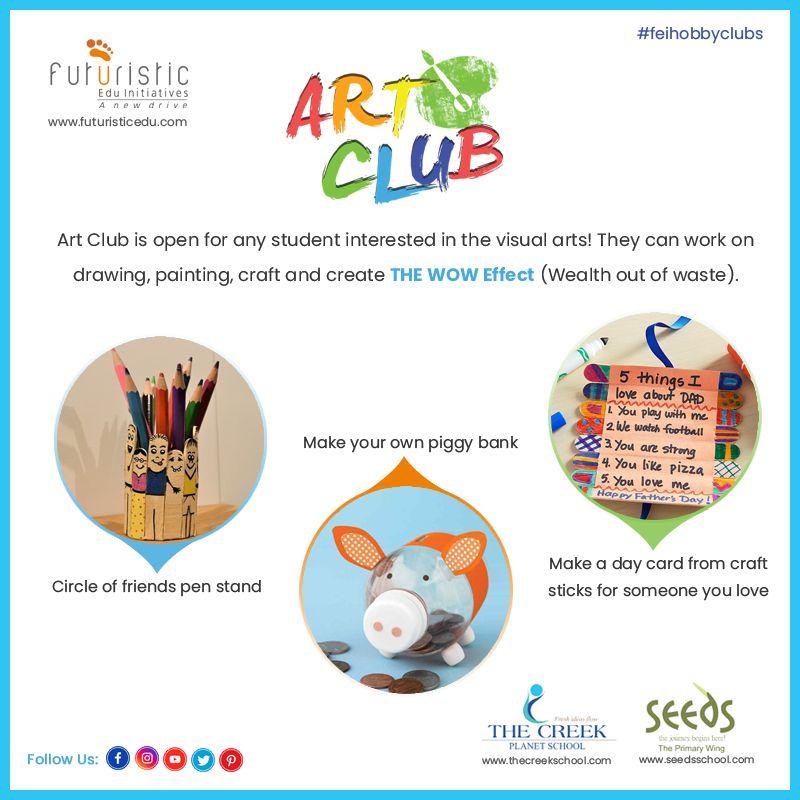 CBSE & CAIE Schools in 2020 Art club, Craft activities