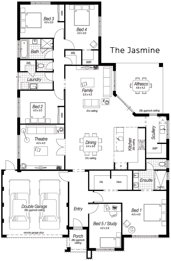 Single Storey House Designs Perth | The Jasmine | Ross North Homes ...