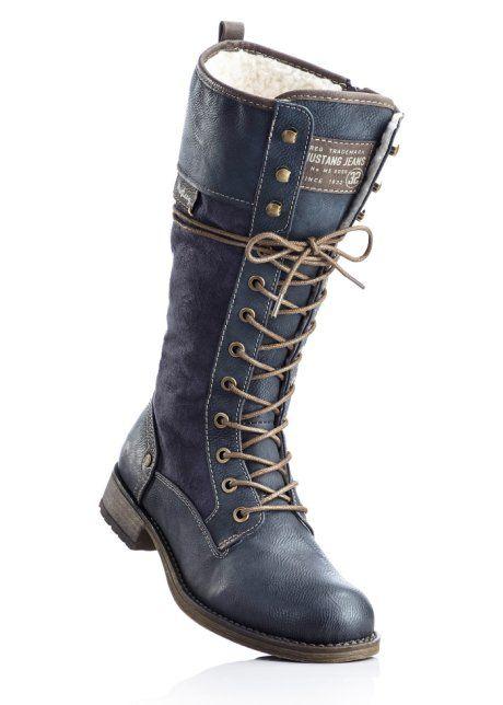e5abf7341 Zimní holínky, Mustang | Obleceni a doplnky | Combat boots, Shoes a ...
