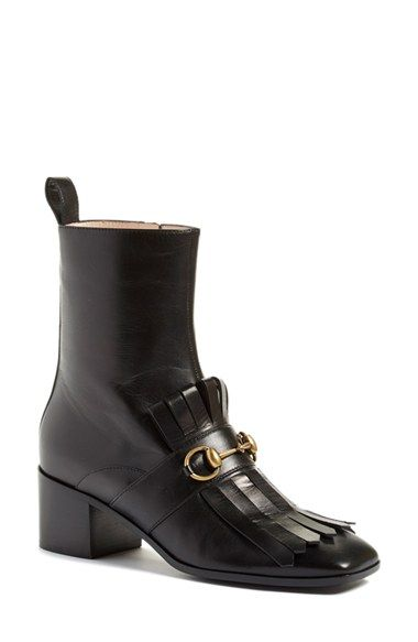 ae1b6850f73 Gucci 'Polly' Kiltie Bootie (Women) | relax buy it wear it | Boots ...