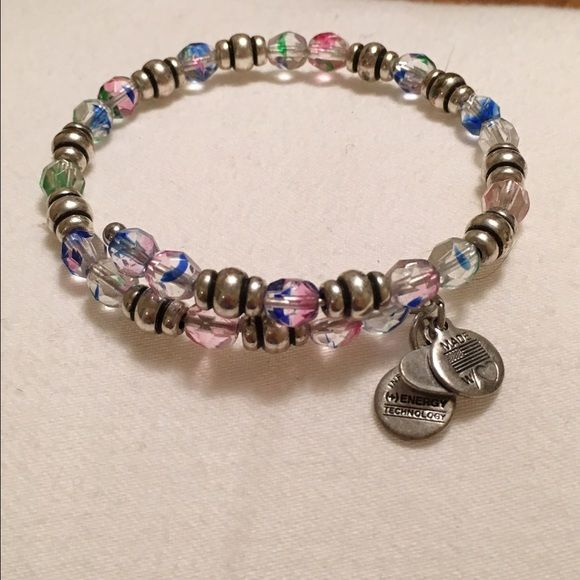 Alex and Ani mosaic Mosaic Souk wrap.. Silver beads.. Discontinued wrap! Alex & Ani Jewelry Bracelets