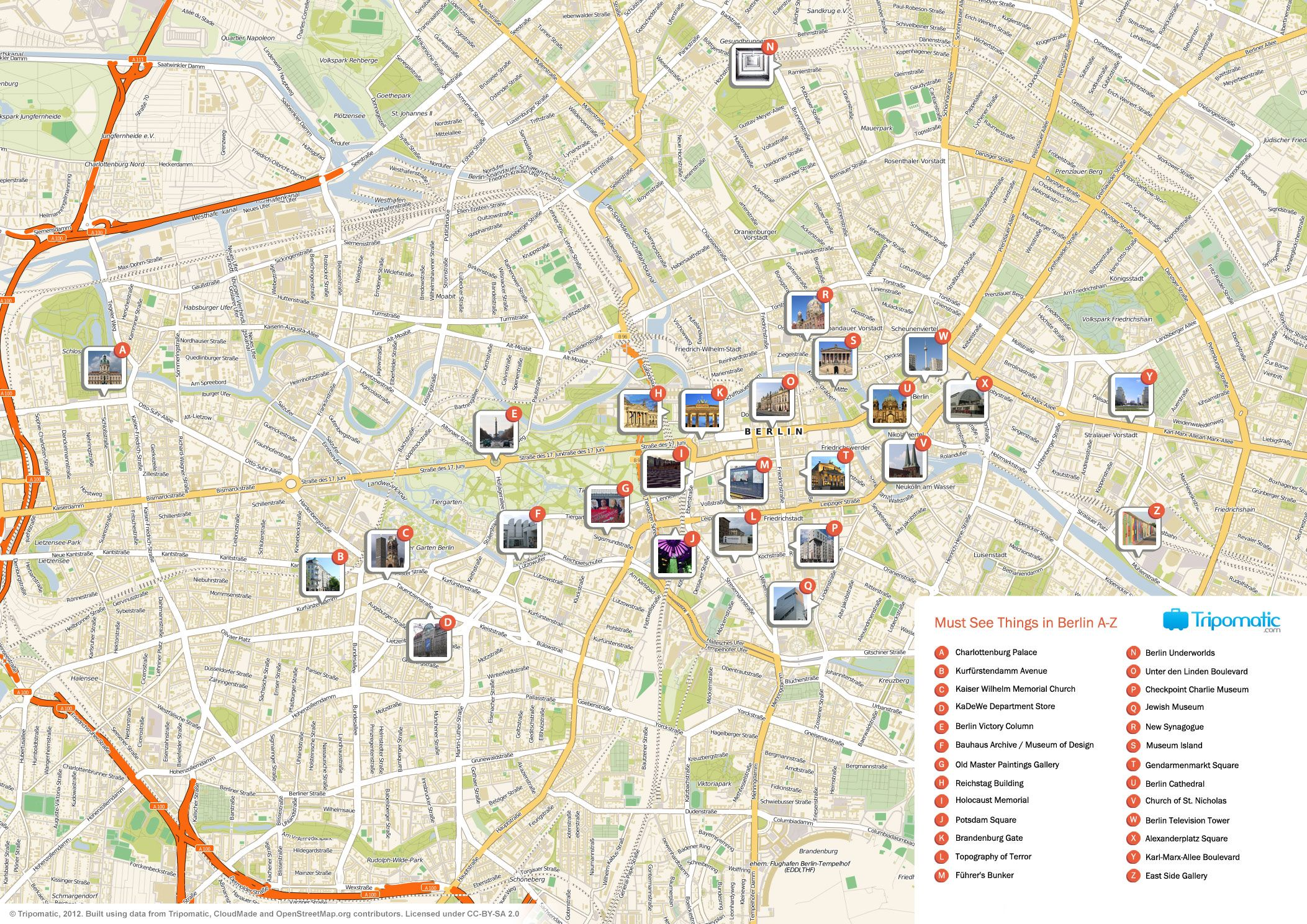 What to See in Berlin | Tourist map, Berlin tourist map
