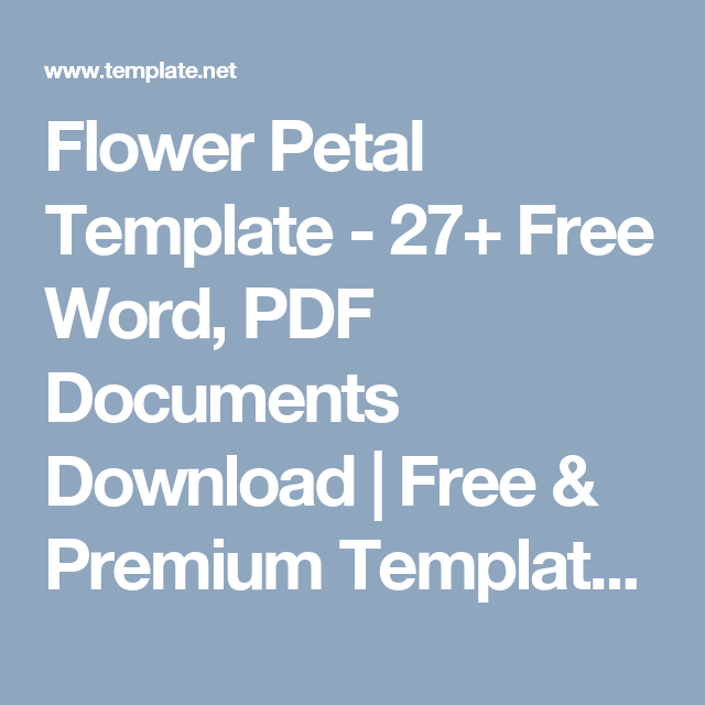 Flower Petal Template - 27+ Free Word, PDF Documents Download | Free ...