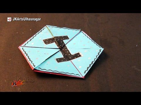 Hexagon Endless Card For Scrapbook How To Make An Endless Love Valentine Card Jk Arts 1019 Youtube Cards Hexagon Cards Valentines Cards