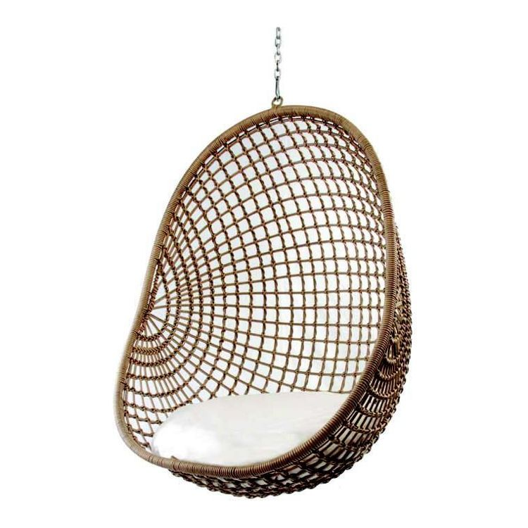 Hanging Pod Chair Natural Check  outdoor  Pod chair