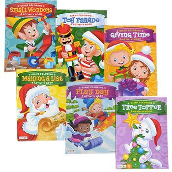 christmas jumbo coloring activity book 160 pages set of 6
