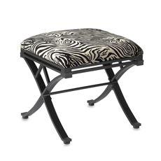 Zebra Vanity Stool Bed Bath Beyond Vanity Stool Vanity Metal Stool