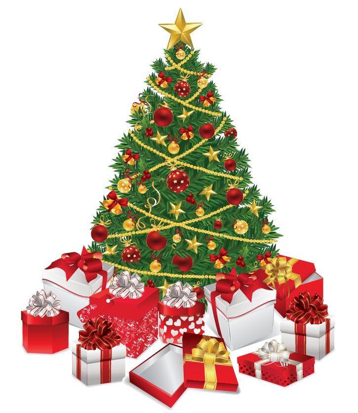 Start Here Christmas Wallpaper Christmas Tree With Gifts Vintage Christmas