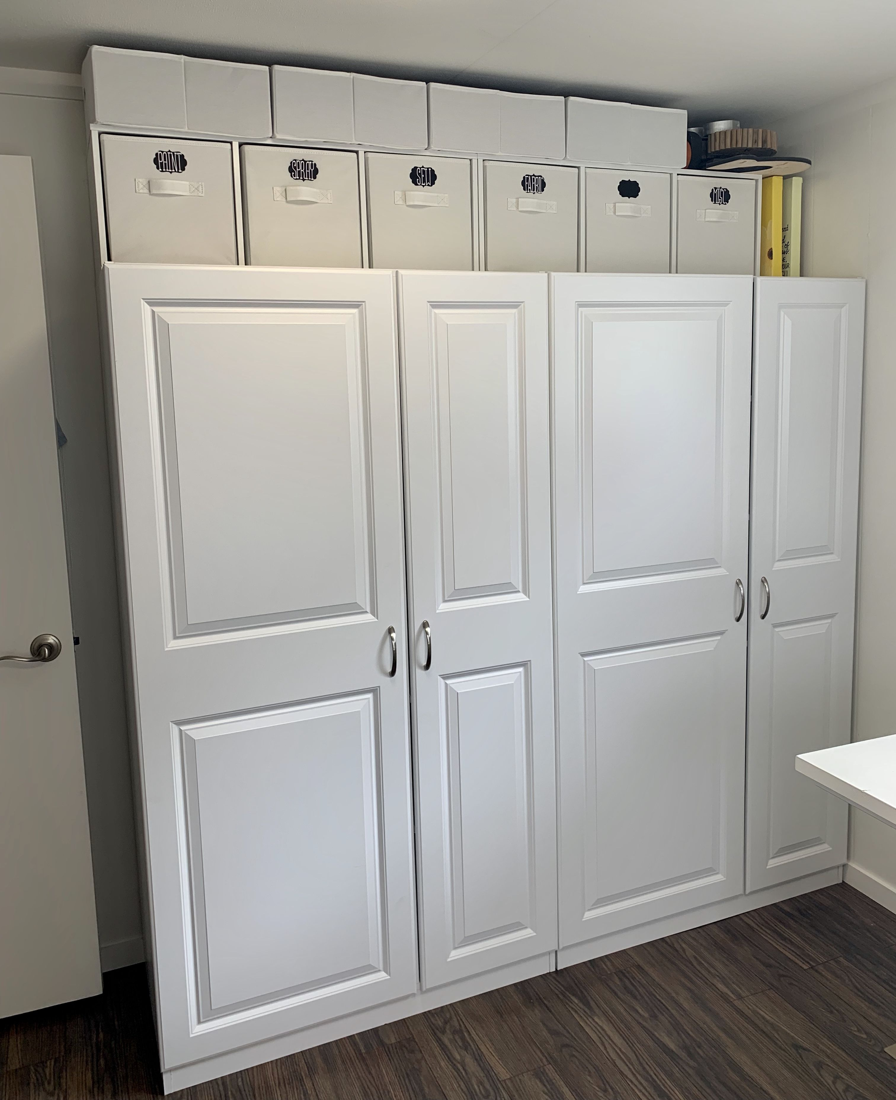 constructed 2 lowe s cabinets side by side added 2 on lowe s laundry room storage cabinets id=15723