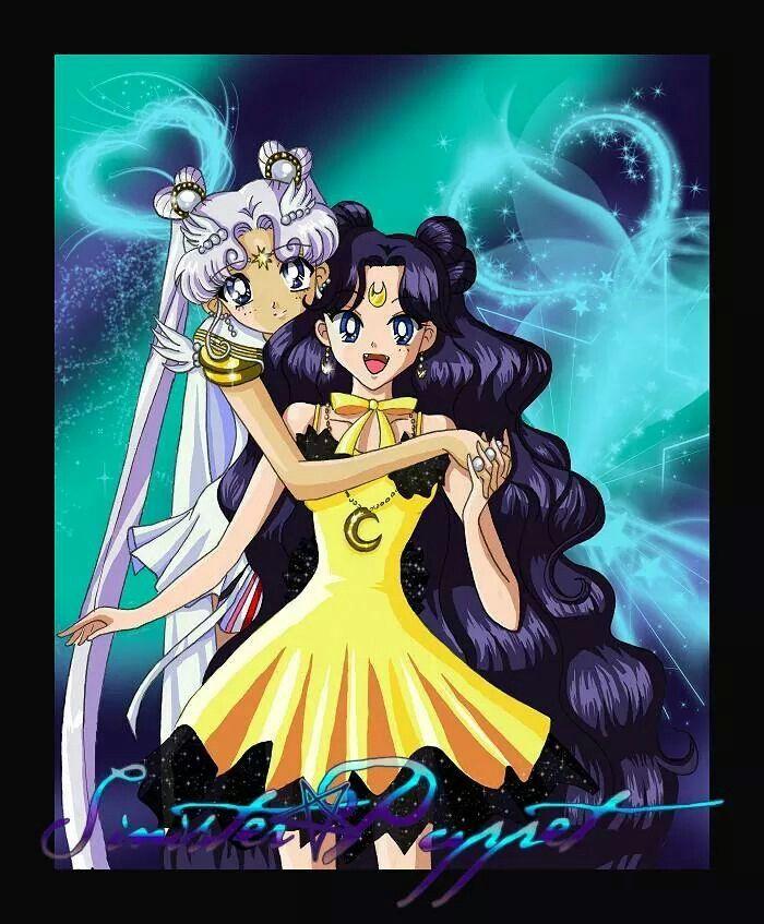 Sailor cosmos and human luna
