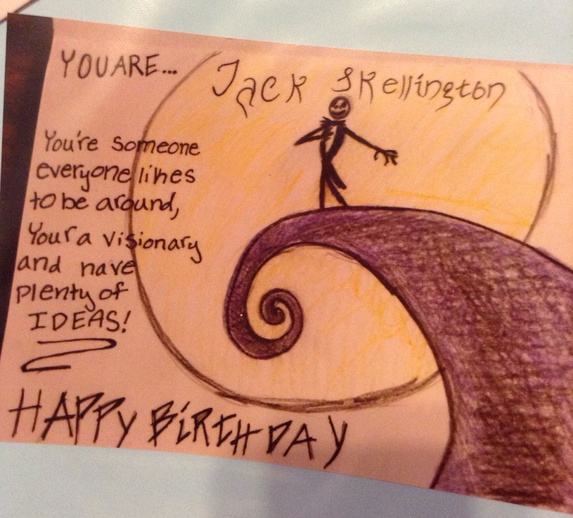 Nightmare before Christmas birthday card inside   ANW cards ...
