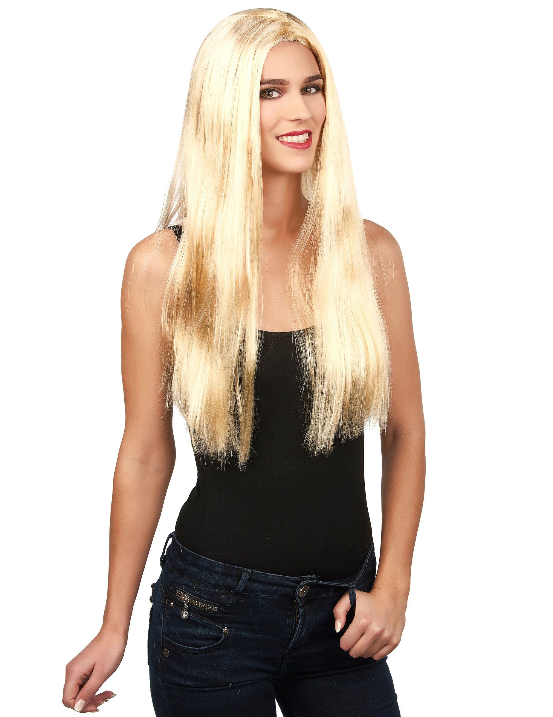Parrucca bionda liscia lunga TOP GIRL