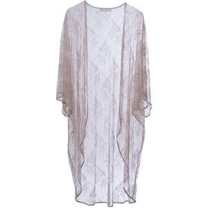 Roses Are Red - Lilies Need A Poem Too Kimono Beige