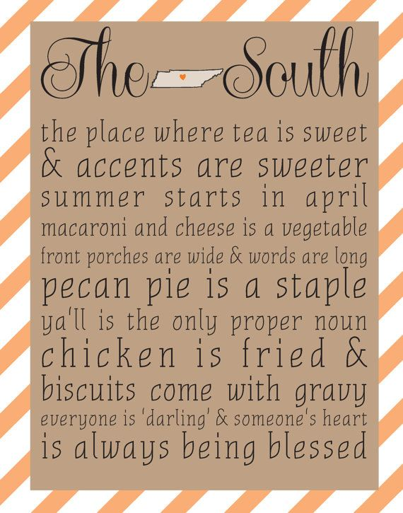 The South   Tennessee 8x10 print   Choose Your Color | Dixieland