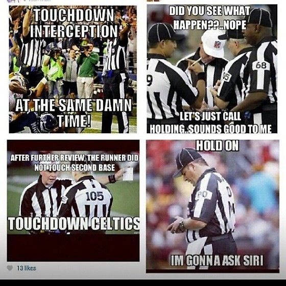 Football refs as we know it