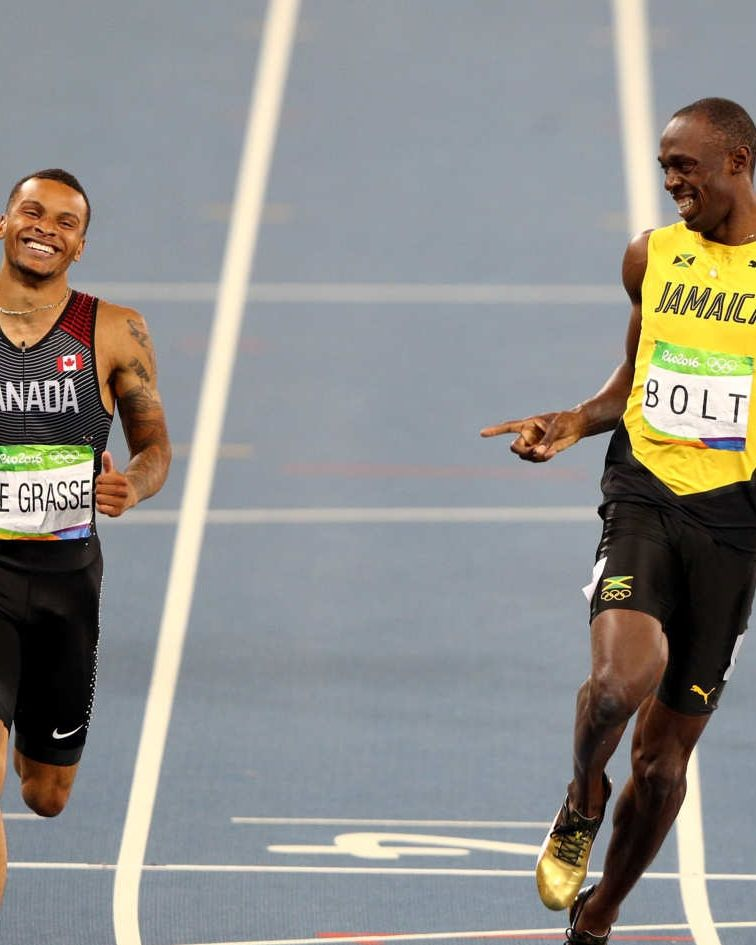 This Is an Excellent Photo of Usain Bolt Frolicking Across