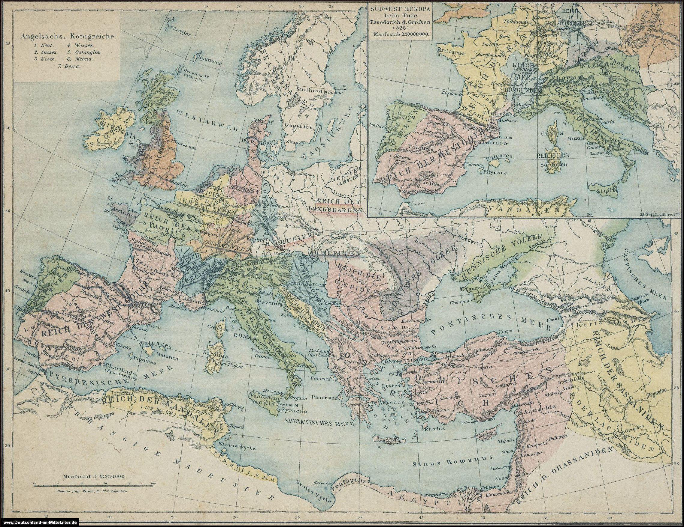 Landkarten Zur Volkerwanderung Volkerwanderung Landkarte Wanderung