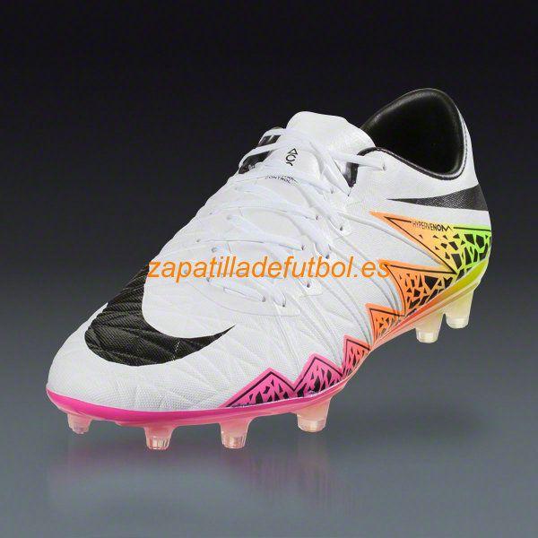 the best attitude 5b7a9 b1494 Nueva llegada Zapatillas Futbol Nike Hypervenom Phinish II FG Blanco  Naranja Total Voltio Negro